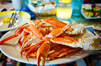 key west - plate of king crab legs